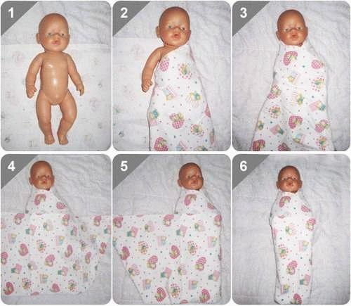 Схемы пеленания новорожденного